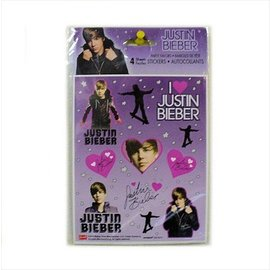 Stickers-Justin Bieber-1pkg-4 Sheets (Discontinued)