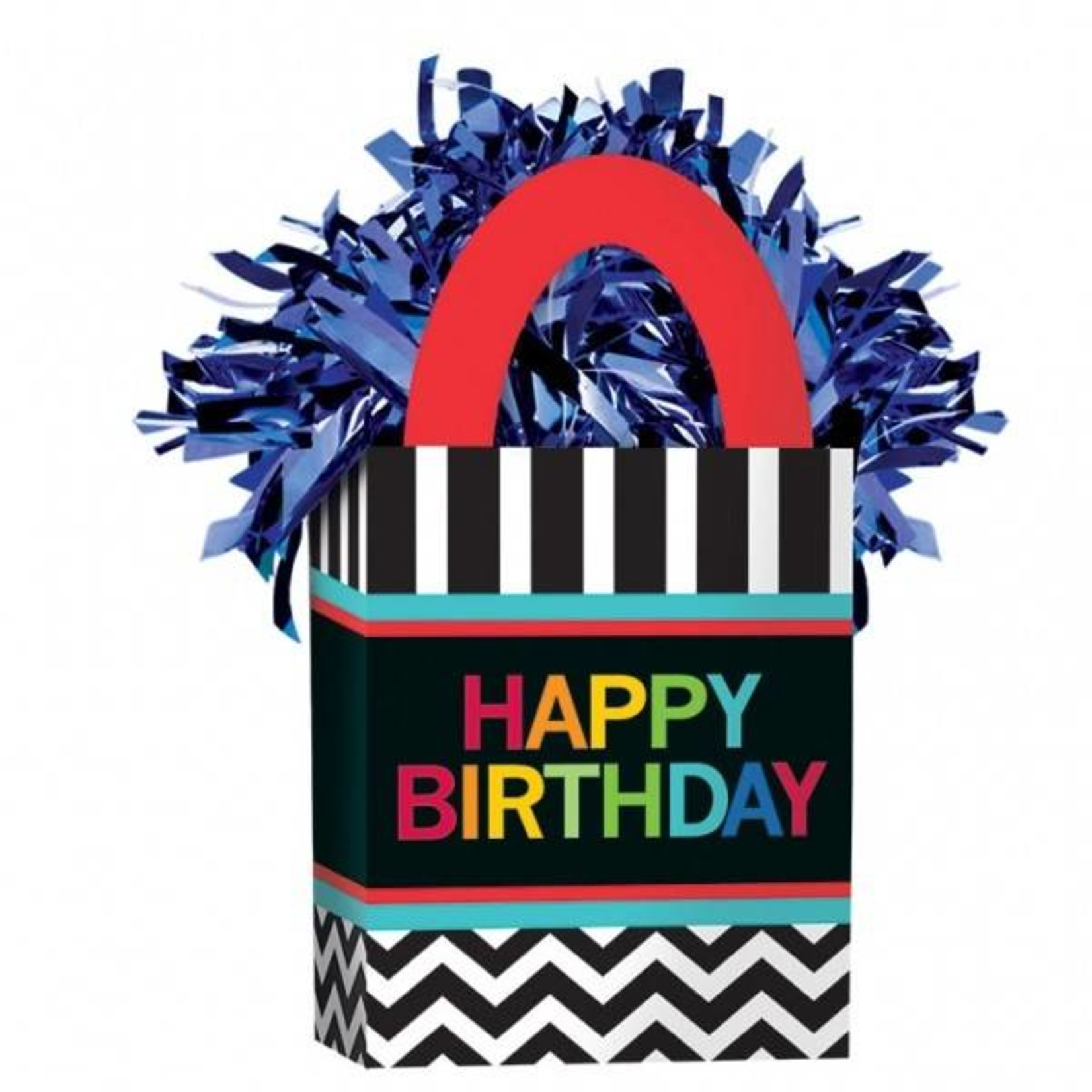 "Balloon Bag Weight-Celebration Happy Birthday-1pkg-5.5""x3"""