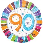 "Foil Balloon - 90 Radiant Birthday - 18"""