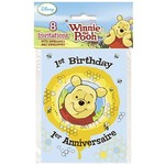 Invitations-Winnie the Pooh-8pk