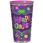 Cups- Plastic- Mardi Gras-32oz - Discontinued