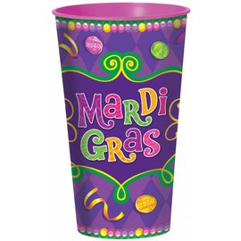 Cups- Plastic- Mardi Gras-32oz - Discontinued