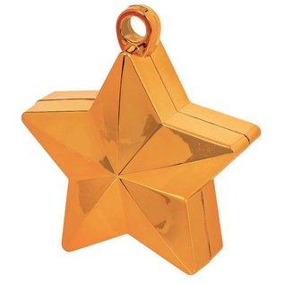 Balloon Weight-Star Electroplated- Orange-6oz