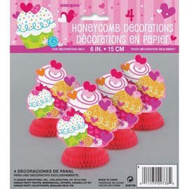 Table Deocr-Valentine-Cupcake Hearts-4pk