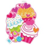 "Cutout-Cupcake Hearts-1pkg-16.5"""