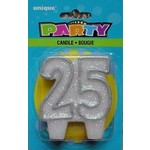 """Candle- 25th Birthday- 1pc (3"""")"""