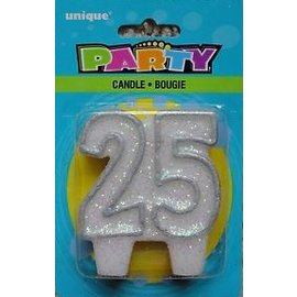 "Candle- 25th Birthday- 1pc (3"")"