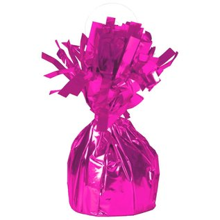 "Balloon Weight-Foil-Magenta-1pkg-4.5""x2.25"""