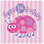 Bev Napkins-First Birthday LadyBug - Final Sale