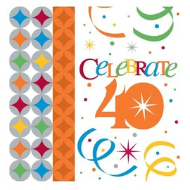 Beverage Napkins-Celebrate in Style 40th- Discontinued