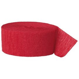 "Paper Crepe Streamer- Red (81ft x 1.75"")"