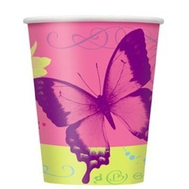 Cups-Butterfly Ohic-Paper-9oz-8pk/Final Sale