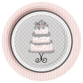 "Beverage Paper Plates- Elegant Wedding- 8pk/7"" (Discontinued)"