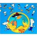 Table Cover-Phineas and Ferb-Plastic-54'' x 84'' - Discontinued