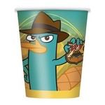 Cups-Phineas and Ferb-Paper-8pk - Discontinued