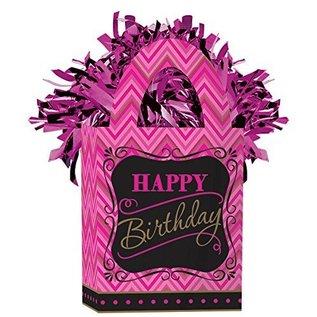 "Balloon Bag Weight-Fabulous Birthday-1pkg-5.5""x3"""