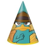 Hats-Cone-Phineas and Ferb-Paper-8pk (Discontinued)