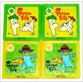 Slide Puzzles-Phineas and Ferb-4pk (Discontinued)