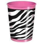 Plastic Cup-Pink Zebra Boutique-1pkg-16oz - Discontinued
