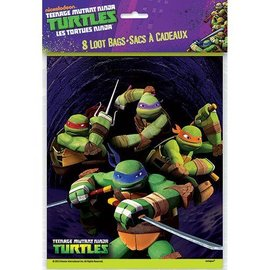 Loot Bags-Ninja Turtles-8pk