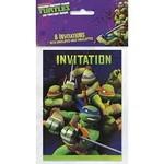 Invitations-Ninja Turtles-8pk