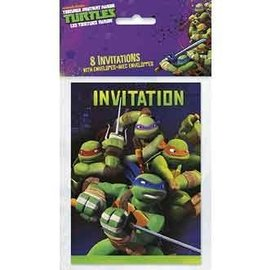 Invitations-Ninja Turtles-8pk