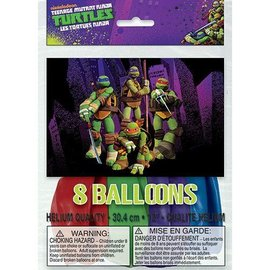 Balloons-Latex-Ninja Turtles-8pk