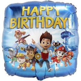 "Foil Balloon-Standard 18""-Paw Patrol Happy Birthday"