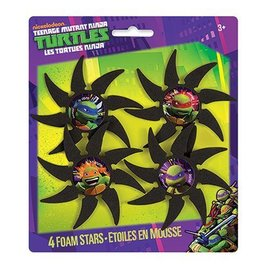 Foam Stars-Ninja Turtles-4pk-sponge
