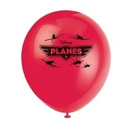 Balloons-Latex-Disney Planes-Asst Color-12''-8pk (Discontinued)