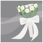 Beverage Napkins- Silver Wedding- 16pk/2ply (Discontinued)