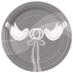 """Beverage Paper Plates- Two Love Birds- 8pk/6.75"""" - Discontinued"""