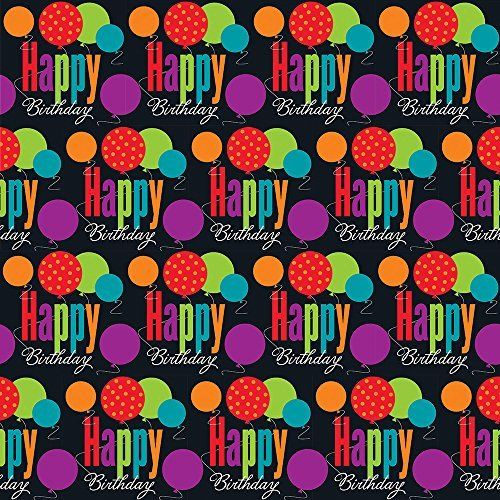 Gift Wrap Happy Birthday Cheer 1pkg 30x5ft