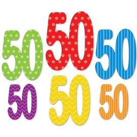 Birthday - Cutouts-50-6''~11.5''-6pk