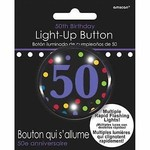 Button-Flashing-50th Bday-Plastic -2''