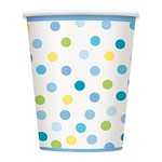 Cups-Baby Boy Stork-Paper-9oz-8pk - Discontinued