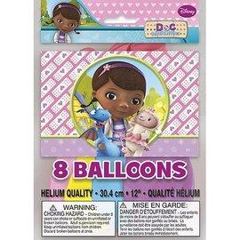 "Latex Balloons-Doc McStuffins-8pkg-12"""