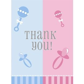 Thank You Cards-Gender Reveal-8pk