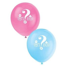 Balloons-Latex-Gender Reveal-12''-8pk