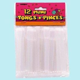 Mini Tongs- Clear- 12pk