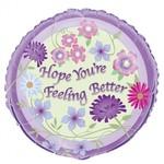 Foil Balloon - Feeling Better Flowers - 18''
