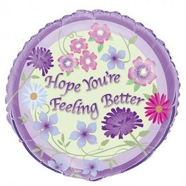 Foil Balloon - Feeling Better Flowers - 18''