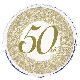 Foil Balloon - 50th Anniversary - 18''