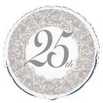 Foil Balloons - 25th Anniversary - 18''