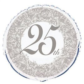 Foil Balloons - 25th Anniversary - 18''