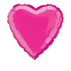 Foil Balloon - Heart - Hot Pink - 18''