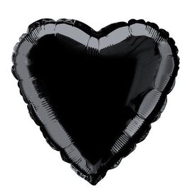 Foil Balloon - Heart - Black Noir - 18''