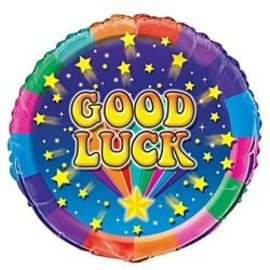 Foil Balloons - Rainbow Good Luck - 18''
