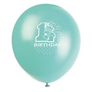 Balloons-Latex-Baby's 1st bday-12'' (6pk)