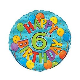 Foil Balloon - 6th Birthday - 18''